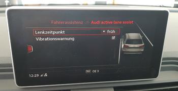 AUDI active lane assist