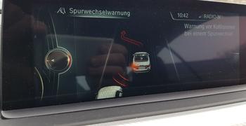 BMW Spurwechselwarnung